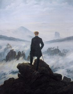 Painting, Caspar David Friedrich - Wanderer above the sea of fog