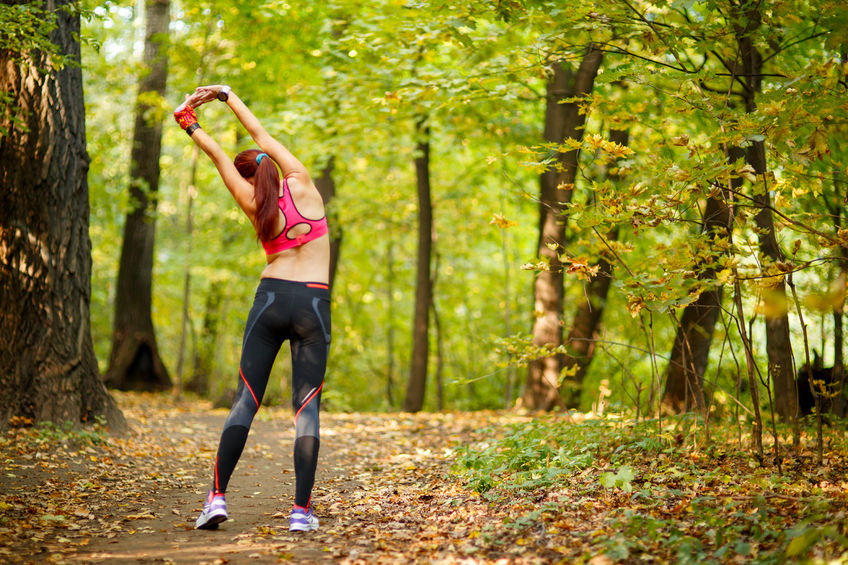 Healthy living, running in a forest