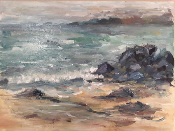 Painting of Rocks and shoals