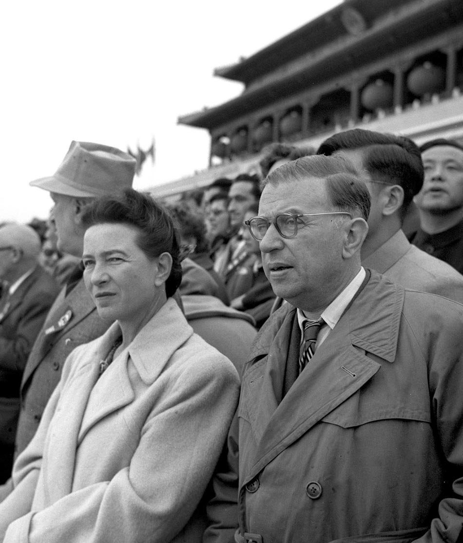 Photo Simone_de_Beauvoir__Jean-Paul_Sartre_in_Beijing_1955