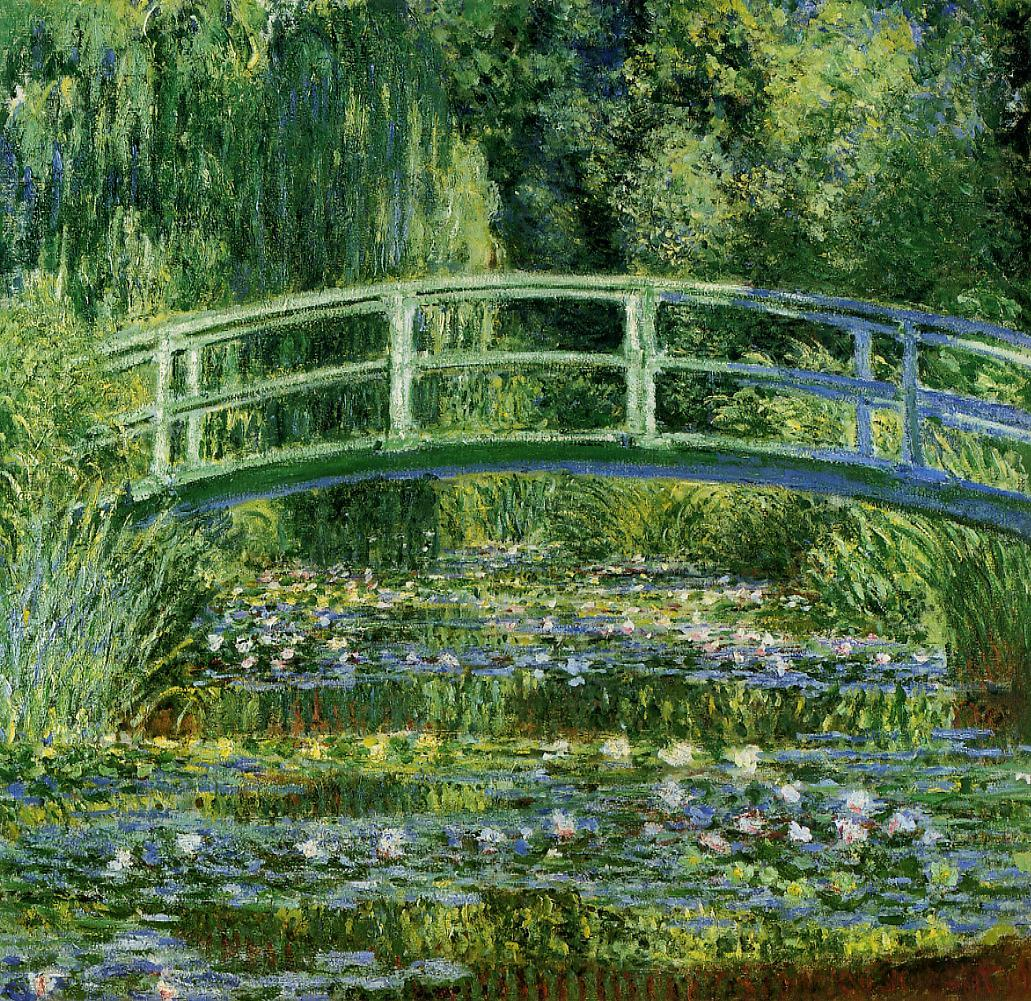 Water-Lilies-and-Japanese-Bridge-(1897-1899)-by Claude Monet