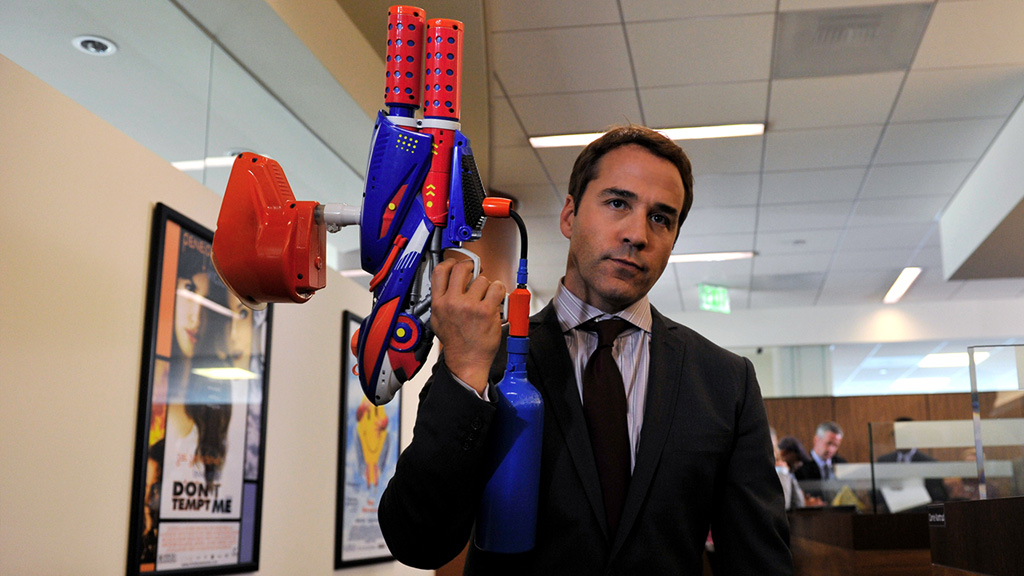 ari gold with a paintball gun