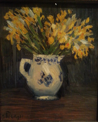Yellow irises by Camille Picasso