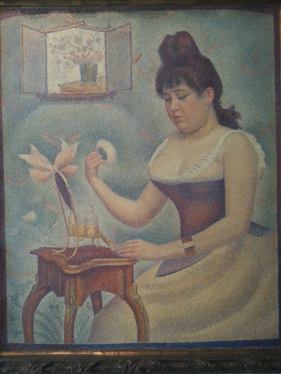 seurat young woman powdering herself